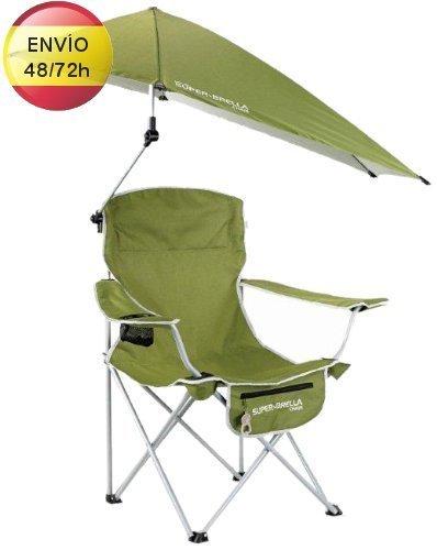 Silla de camping con sombrilla caravania - Sillas de camping ...